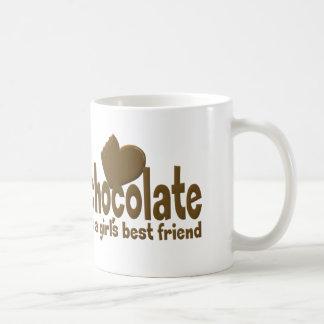 Caneca De Café O melhor amigo da menina do chocolate