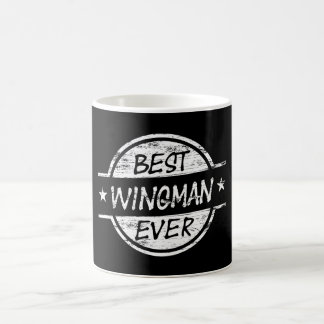 Caneca De Café O melhor Wingman sempre branco