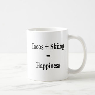 Caneca De Café O Tacos mais o esqui iguala a felicidade