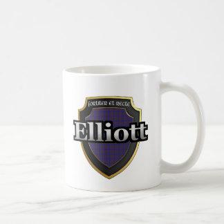 Caneca De Café O Tartan escocês da dinastia de Elliott do clã