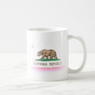 Caneca De Café O vintage desvanece-se bandeira de Califórnia