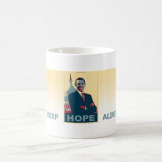 Caneca De Café Obama mantem a esperança viva