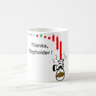 Caneca De Café Obrigados Bagholder!  Não guardare um estoque que