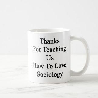 Caneca De Café Obrigados para que ensinam nós como amar a