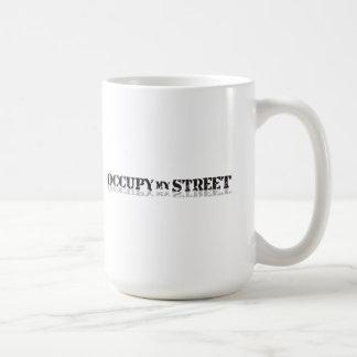 Caneca De Café Ocupe minha rua não Wall Street