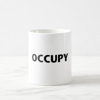 Caneca De Café Ocupe (preto no branco)