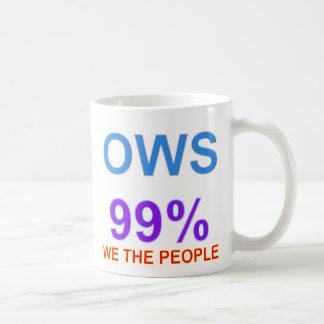 Caneca De Café Ocupe Wall Street 99% nós as pessoas