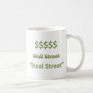 Caneca De Café Ocupe Wall Street retro