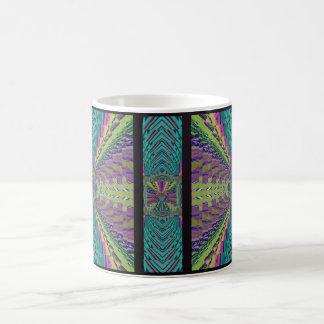 Caneca De Café Olhar sadio profundo do Crochet