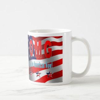 Caneca De Café OMG eu sou um americano agora!
