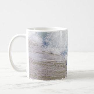 Caneca De Café Onda litoral do mar da arte da fotografia da praia