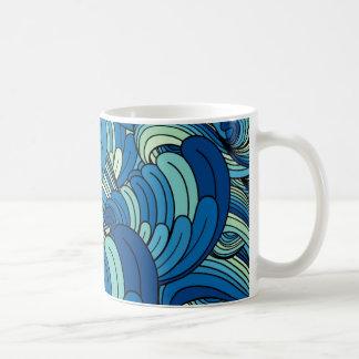 Caneca De Café Ondas de oceano
