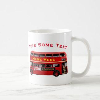 Caneca De Café Ônibus vermelho de Londres temático