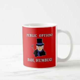 Caneca De Café Opção pública? Bah, farsa!  Camisa de Scrooge T