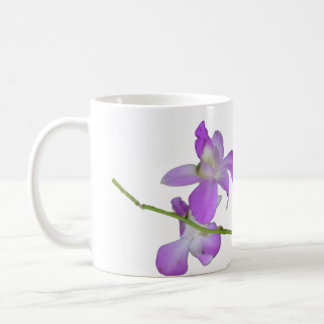 Caneca De Café Orquídeas roxas