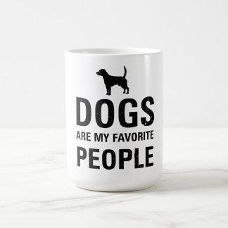 Caneca De Café Os cães são meus povos favoritos