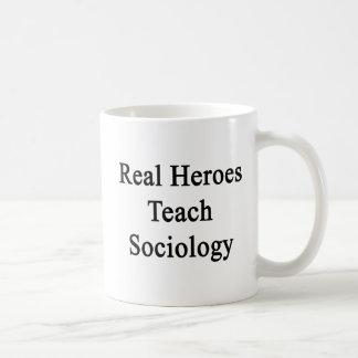 Caneca De Café Os heróis reais ensinam a Sociologia