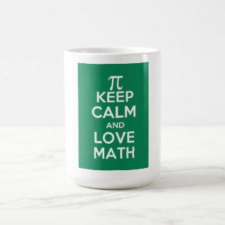 Caneca De Café Os Pi mantêm a calma e a matemática do amor