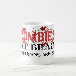 Caneca De Café Os zombis comem cérebros….