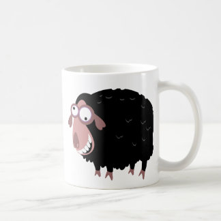Caneca De Café Ovelhas negras engraçadas