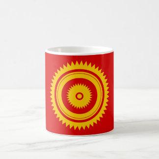 Caneca De Café Oxidação do amarelo-marroquino da estrela de Sun