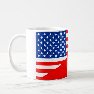 Caneca De Café país dos EUA da bandeira do Polônia de Estados