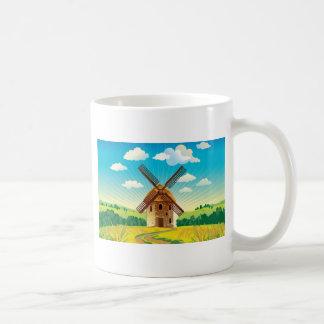Caneca De Café Paisagem do moinho de vento