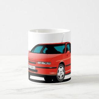 Caneca De Café Parte dianteira vermelha de Opel Calibra