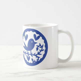 Caneca De Café Pássaro azul