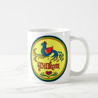 Caneca De Café Pássaro da boa vinda do sinal do Hex