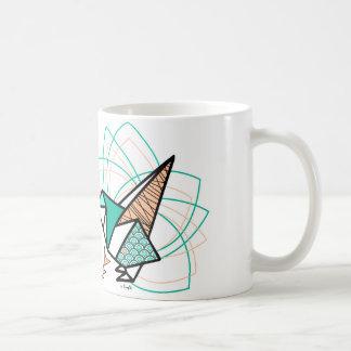 Caneca De Café Pássaro origami