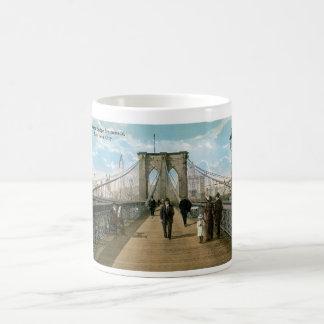 Caneca De Café Passeio da ponte de Brooklyn, Nova Iorque