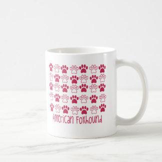 Caneca De Café Pata pelo Foxhound americano da pata