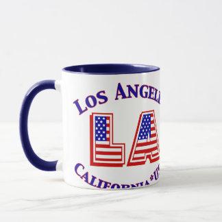 Caneca de café patriótica do logotipo de Los