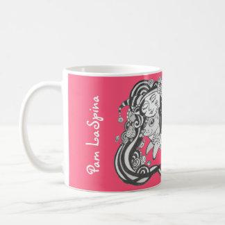 Caneca De Café Peixes de cão do diabrete, desafio ao sonho, rosa