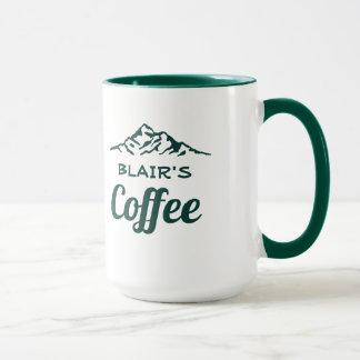 Caneca de café personalizada com montanhas