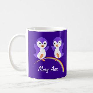 Cute Purple Penguin