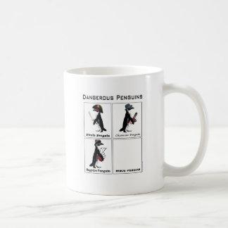Caneca De Café pinguins perigosos