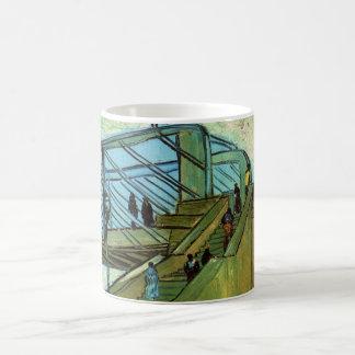 Caneca De Café Ponte de Van Gogh Trinquetaille, belas artes do