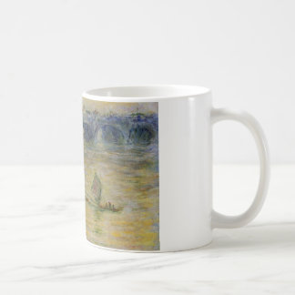 Caneca De Café Ponte de Waterloo por Claude Monet