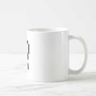 Caneca De Café ponto de exclamação de 8 bits