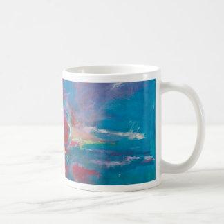 Caneca De Café Por do sol azul e malva