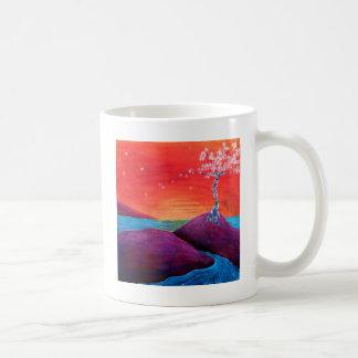 Caneca De Café Por do sol da flor de cerejeira