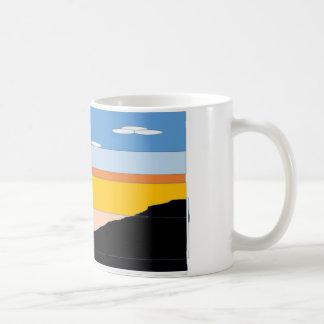 Caneca De Café Por do sol da montanha