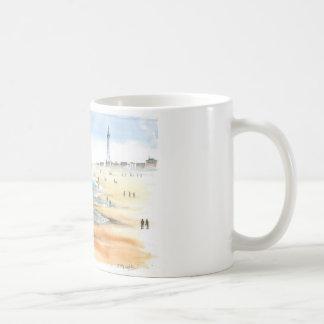 Caneca De Café Praia de Blackpool com torre de Blackpool