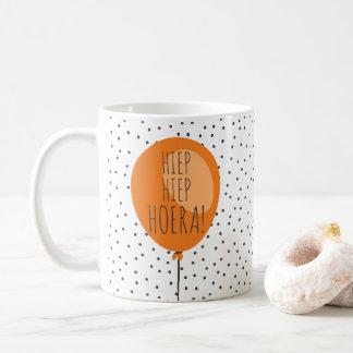 Caneca De Café Presente de aniversário holandês do balão