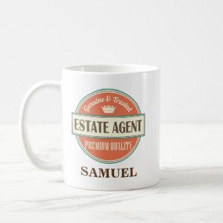 Caneca De Café Presente personalizado agente imobiliário da