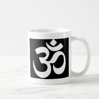 """Caneca De Café Presentes Mystical da mantra do """"OHM"""" do preto por"""