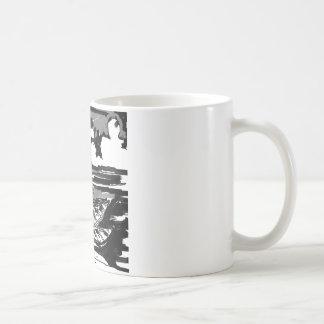 Caneca De Café Preto & branco