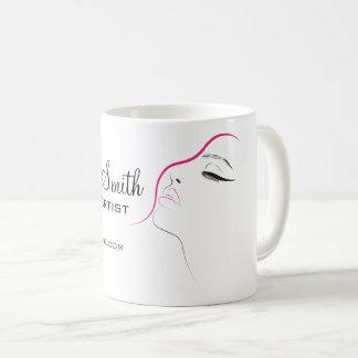 Caneca De Café Preto longo do rosa das extensões do chicote do